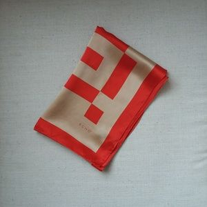 Echo red and gold silk scarf